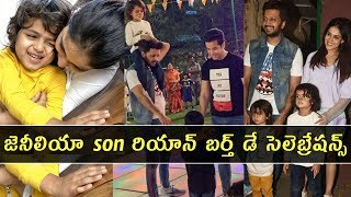 Actress Genelia son Riaan Birthday celebrations..