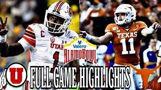 #11 Utah vs Texas Full Game Highlights| 2019 Alamo Bowl