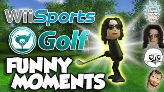 Gay Michael Jackson and All New Characters! Wii Sports Golf Funny Moments Part 1!!