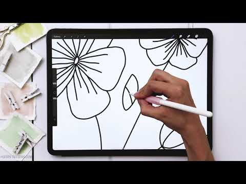 Draw a Line Art Floral Bouquet in Procreate