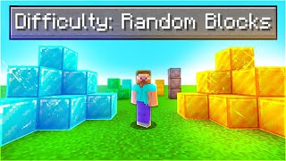 Can You Beat Minecraft If The Blocks Are Random?