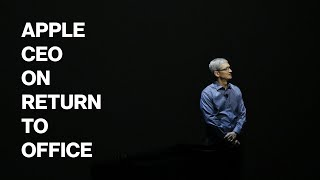 Apple CEO Cook Says Staff `Can't Wait' to Return to Office
