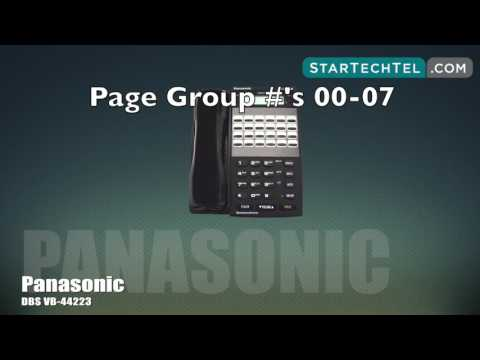 How To Use The Paging Feature On The Panasonic DBS VB-44223 Phone