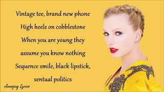 Taylor Swift -Cardigan (Lyrics)