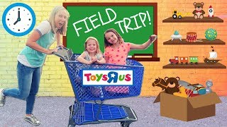 Fake Toy School Field Trip to REAL Toys R Us !!!