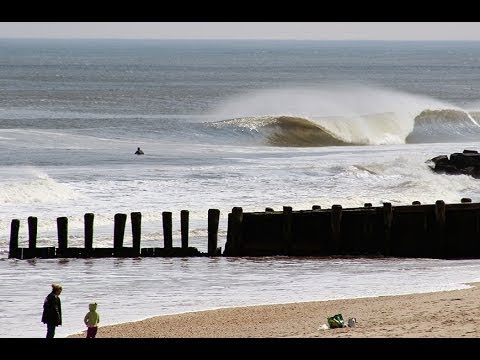 Fun spring surf in Central New Jersey