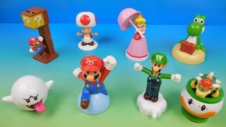 2016 NINTENDO SUPER MARIO SET OF 8 McDONALDS HAPPY MEAL KIDS TOYS VIDEO REVIEW by FASTFOODTOYREVIEWS