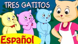 TRES GATITOS | Canciones infantiles en Español | ChuChu TV