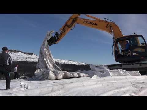Förberedelser inför nästa vinters skidåkning på Idre Fjäll