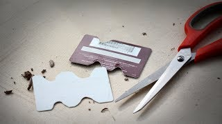 Creating a Notched Rib from a Plastic Card for Sculpting Edges of Ceramic Pieces