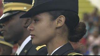 Father salutes daughter at her graduation from Fort Valley State University