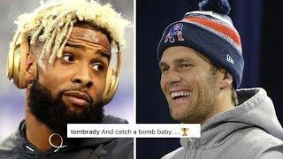 Tom Brady Surprisingly Helps Odell Beckham Jr Finish Lil Wayne Rap Lyrics