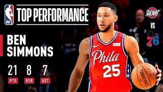 Ben Simmons Shows OFF Range, Posts A Near Triple-Double! | 2019 NBA Preseason
