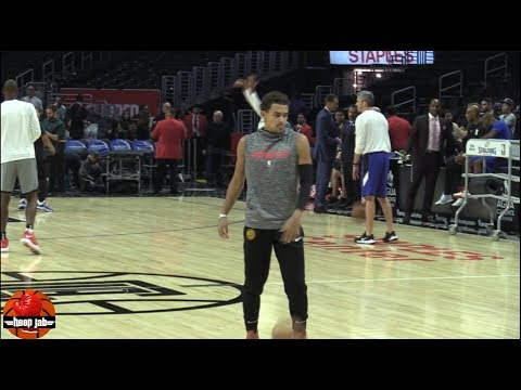 Trae Young Handles & 3 Point Practice Clippers vs Hawks Pre Game Workout. HoopJab NBA