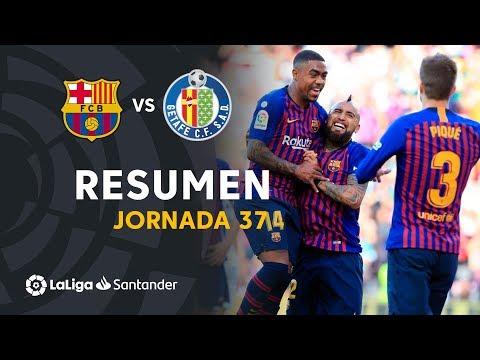 Resumen de FC Barcelona vs Getafe CF (2-0)