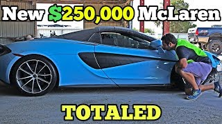 I Found a Near NEW $250,000 McLaren at the Salvage Auction! How Much Is it Worth?