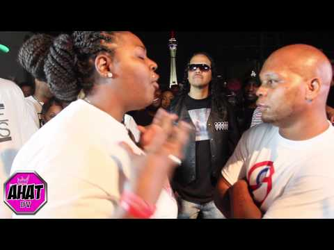 Danny Myers vs female rapper Unique Barrz | rap battle |