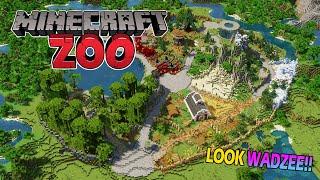 WADZEE!! Make a zoo in Minecraft (plz) - Minecraft Speedbuild