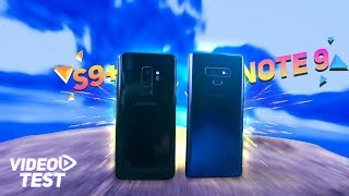 Samsung Galaxy Note 9 vs Galaxy S9 Plus   ULTIMATE Video Test