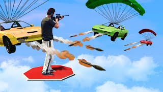 Can You HIT The SNIPER Off The Platform?! (GTA 5 Funny Moments)