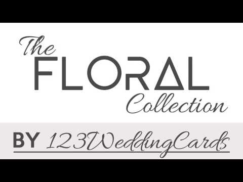 Indian Floral Wedding Invites In USA | 123WeddingCards
