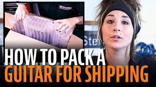 Watch the Trade Secrets Video, How to properly pack a guitar for shipping