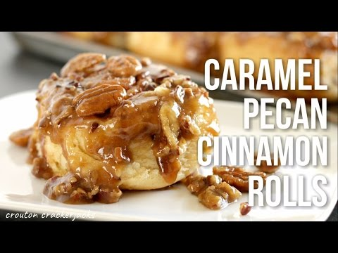 Caramel Pecan Cinnamon Rolls!! Homemade Sticky Buns Recipe