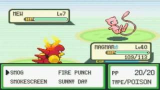 Mew Glitch in Pokemon LeafGreen