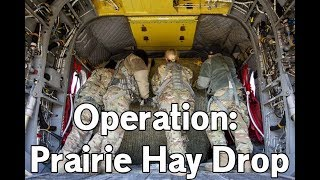 OPERATION HAY DROP - Nebraska National Guard airdrops hay to cattle