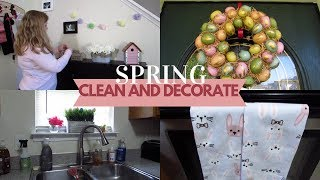 ALL DAY SPRING CLEANING WITH ME | CLEAN AND DECORATE WITH ME FOR EASTER | EASTER 2019