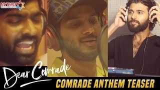 Dear Comrade anthem teaser ft Vijay Deverakonda, Vijay Set..