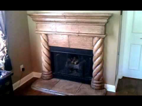 Cast Stone Fireplace Paint And Antique Glaze Youtube