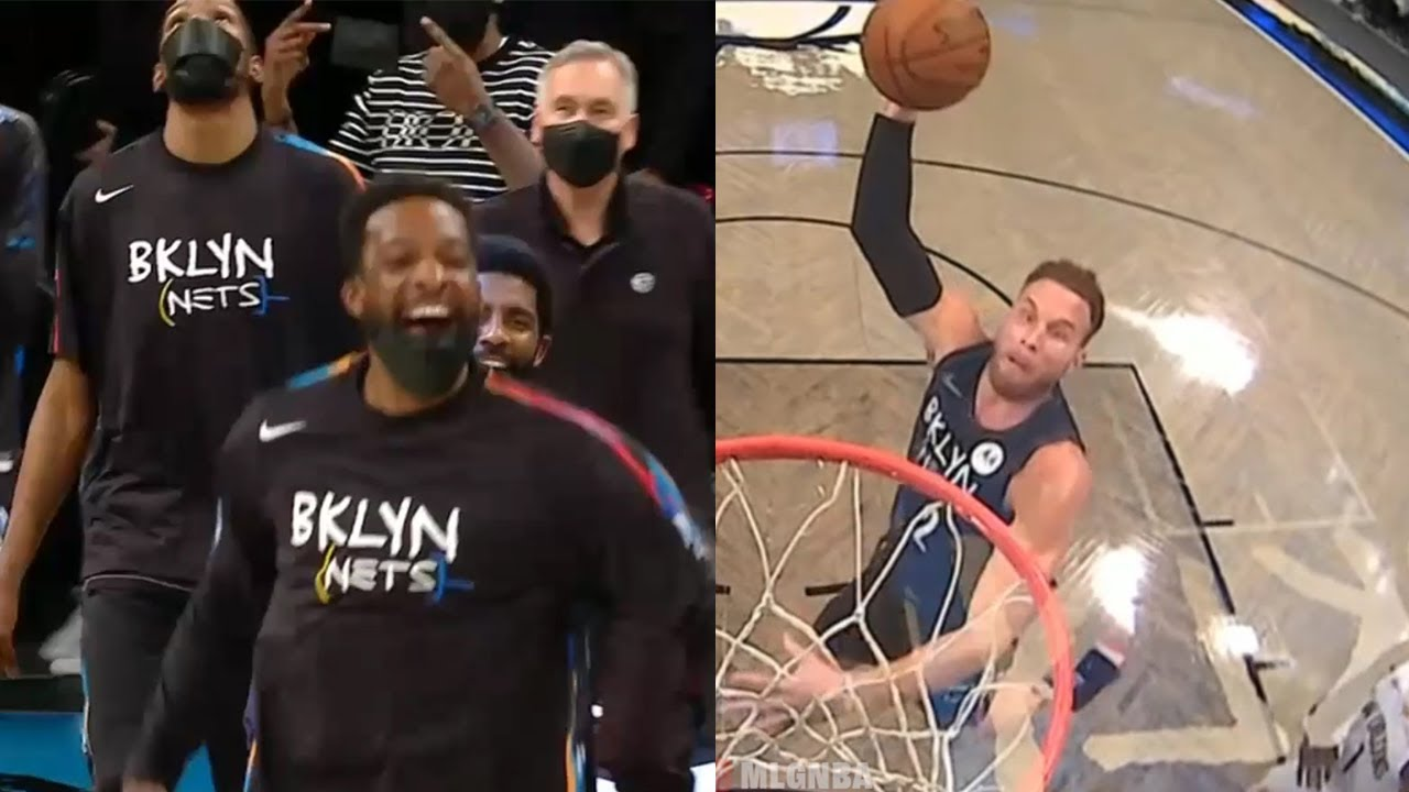 Blake Griffin shocks teammates with powerful dunk   Nets vs Pelicans
