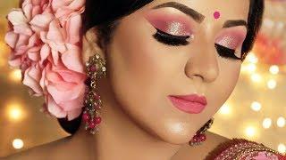 Glamorous Diwali Look 2018   Holographic Glitter Makeup