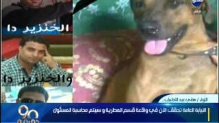 90 دقيقة|قوات الأمن في القليوبية تلقي القبض علي المتهمين في واقعة ذبح كلب فى شارع الهرم