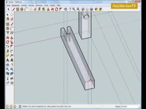 SketchUp - Möbelbau leicht gemacht mit HolzWerken (1/2)