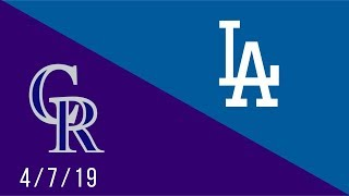 Los Angeles Dodgers vs Colorado Rockies - Full Highlights Game - 4/7/19