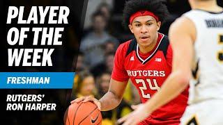Highlights: Freshman of the Week Ron Harper Goes Off for 27 vs. Iowa | Rutgers | B1G Basketball