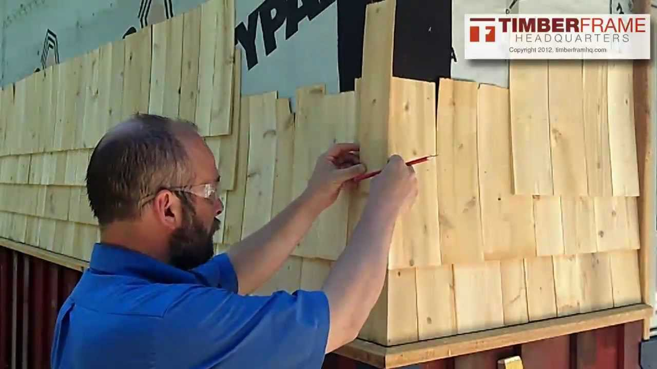 How To Install Cedar Shingles With A Weaved Corner Youtube