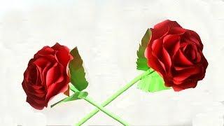 Hướng dẫn làm hoa hồng bằng giấy màu - Món quà 20/11 ý nghĩa   Cách làm hoa giấy   Tư liệu mầm non