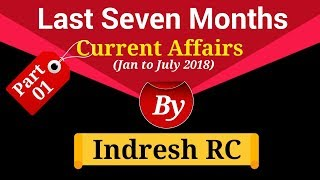 Current Affairs | Last Seven Months Current Affairs | Part 1 | Current Affairs in Hindi