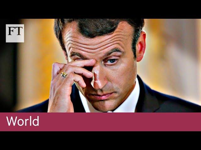 蜜月期已過 法國總統馬卡洪民調大幅下滑