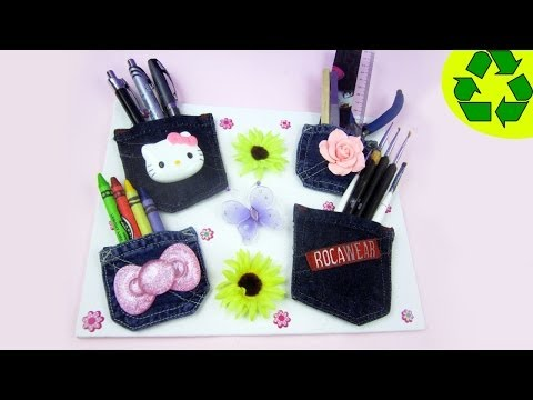 How to make a wall organizer for makeup items or school supp