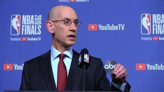 NBA commissioner Silver holds news conference before Game 1