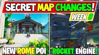 "Fortnite: ALL SECRET MAP CHANGES ""NEW POI"" + ""Rocket Busters"" - Season X WEEK 8"