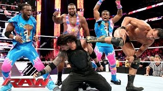 Roman Reigns competes in a