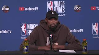 Kevin Durant Postgame Interview |  Cavaliers vs Warriors NBA Finals Game 1