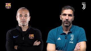 Buffon & Iniesta double interview | Juventus vs Barcelona