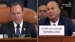 WATCH: Rep. Schiff's full closing statement in Gordon Sondland hearing | Trump impeachment hearings
