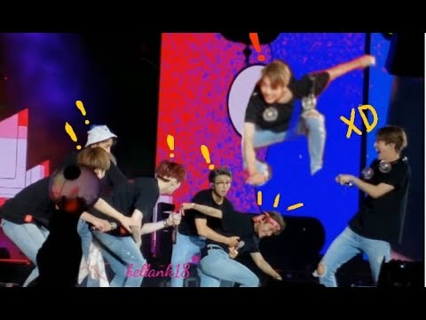 What happens when the stage is slippery...Taehyung falls hard